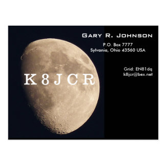 QSL Card with a beautiful moon