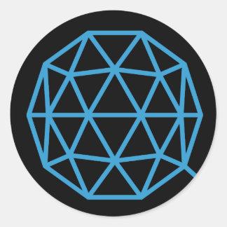 QTUM Round Sticker (Dark)