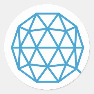QTUM Round Sticker (Light)