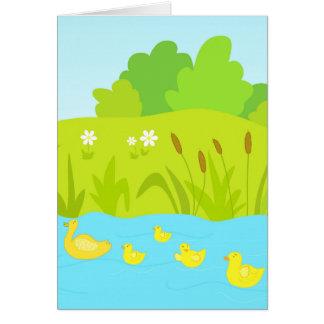 Quacking ducks card