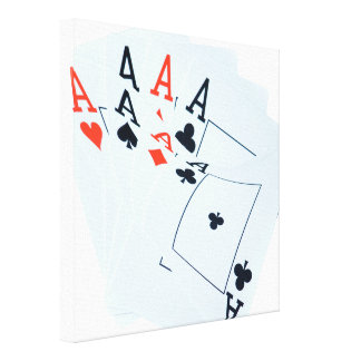 Quad Aces In A Poker Cards Pattern, Canvas Print