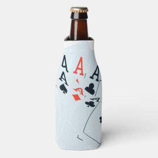 Quad Aces Poker Cards Pattern, Bottle Cooler