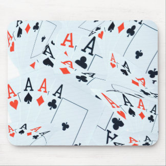 Quad Aces Poker Cards Pattern, Mouse Pad
