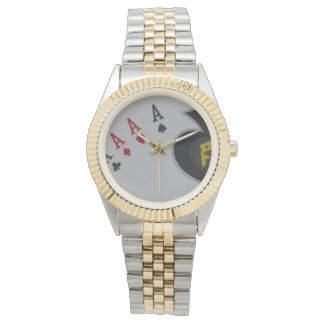 Quad_Aces,_Poker,_Mens_Two_Toned_Watch. Watches
