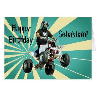 Quad Bike / ATV Birthday Card