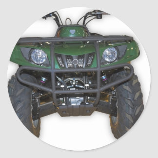 quad bike - atv classic round sticker