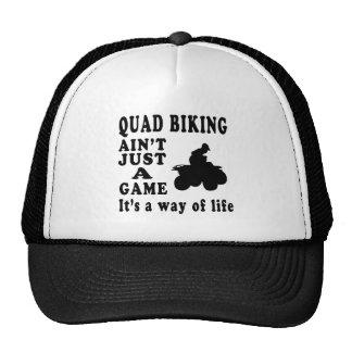 Quad Biking Ain't Just A Game It's A Way Of Life Trucker Hat