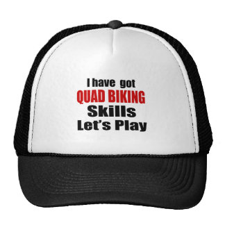 QUAD BIKING SKILLS DESIGNS TRUCKER HAT