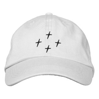 Quad Cross Curved Brim Hat Embroidered Hat