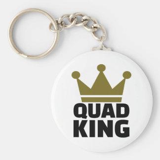Quad king basic round button keychain