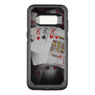 Quad Kings In A Layered Pattern, OtterBox Commuter Samsung Galaxy S8 Case