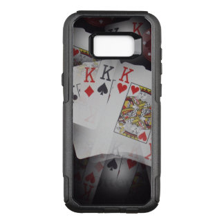 Quad Kings In A Layered Pattern, OtterBox Commuter Samsung Galaxy S8+ Case