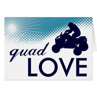 quad love atv greeting card