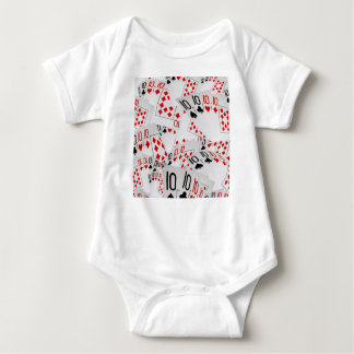 Quad Tens In A Layered Pattern, Baby Bodysuit