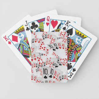 Quad Tens In A Layered Pattern, Bicycle Playing Cards