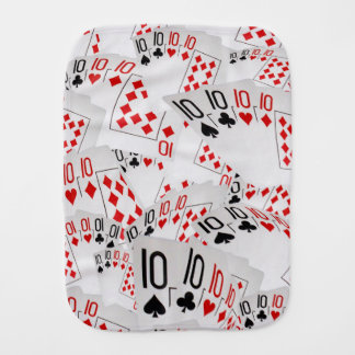 Quad Tens In A Layered Pattern, Burp Cloth
