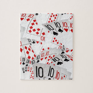 Quad Tens In A Layered Pattern, Jigsaw Puzzle