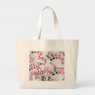 Quad Tens In A Layered Pattern, Large Tote Bag