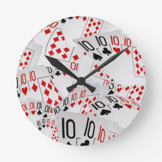 Quad Tens In A Layered Pattern, Round Clock