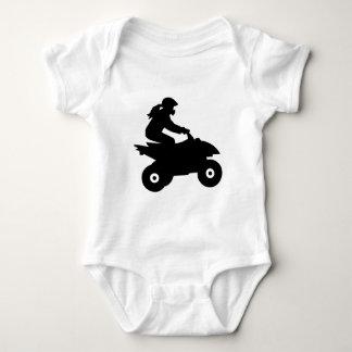 Quad woman girl baby bodysuit