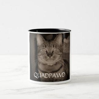 Quadpawd (aka Henry) Two-Tone Coffee Mug