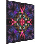 Quadra Angels Fractal Geometry Wrapped Canvas Stretched Canvas Print