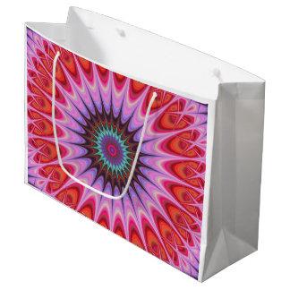 Quadrant mandala large gift bag
