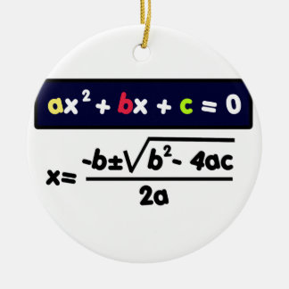 Quadratic equation ceramic ornament