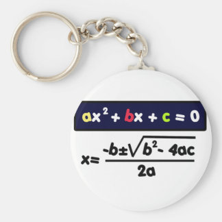 Quadratic equation keychain
