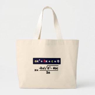 Quadratic equation large tote bag