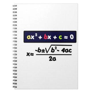 Quadratic equation notebooks