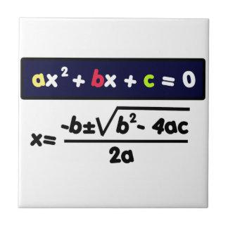Quadratic equation tile