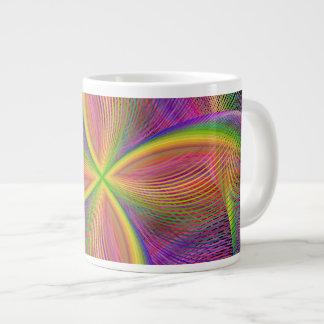Quadratic rainbow large coffee mug