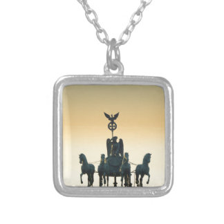 Quadriga Brandenburg Gate 001, Berlin Silver Plated Necklace