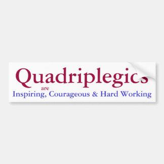 quadriplegic awareness bumper sticker