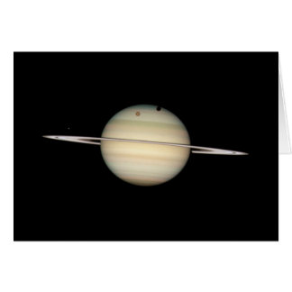 Quadruple Saturn Moon Transit Card