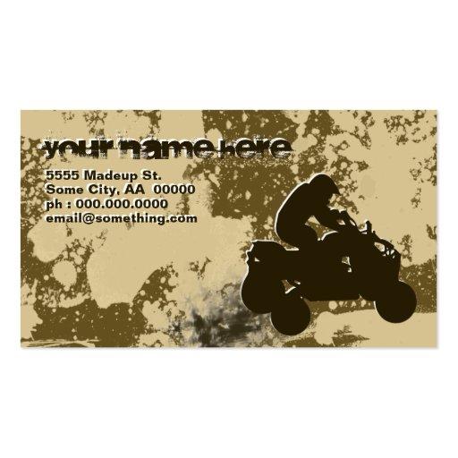 quads : dirt trail : business card templates