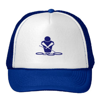QUADS LOGO BLUE AMAZING TENOR DUDE MESH HATS