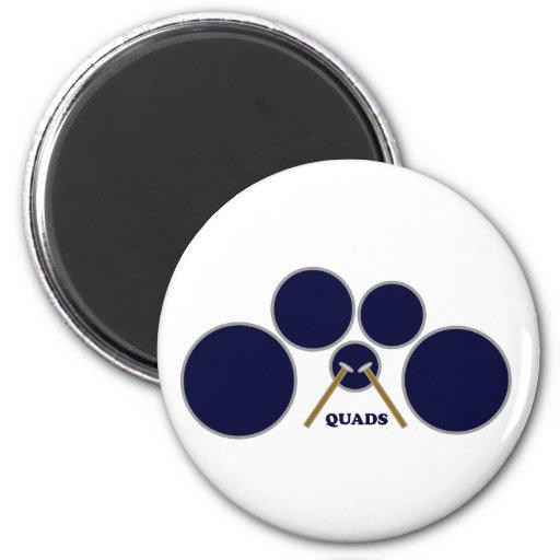 quads refrigerator magnets