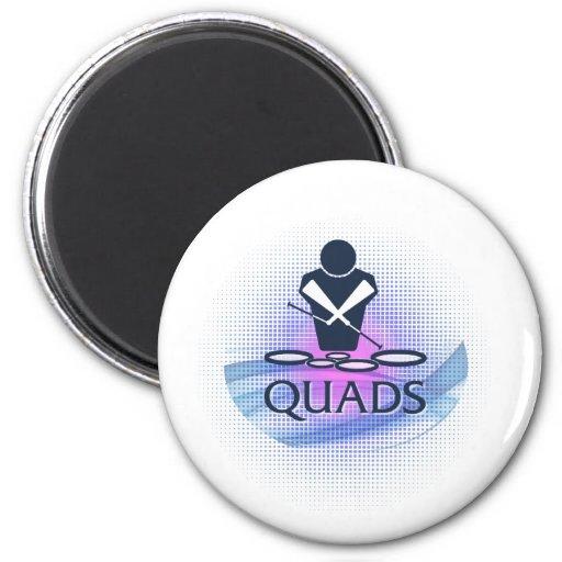Quads Refrigerator Magnet