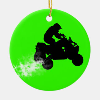 quads Double-Sided ceramic round christmas ornament