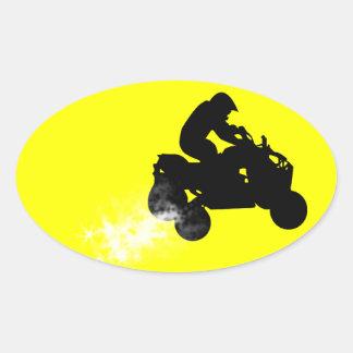 quads. oval sticker