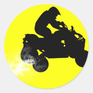 quads. round sticker