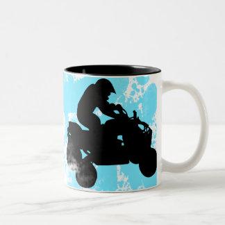 quads. Two-Tone mug