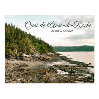 Quai de l'Anse-de-Roche, Quebec Postcard