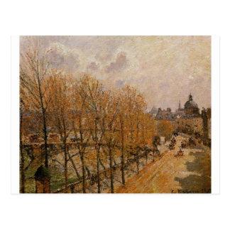 Quai Malaquais, Morning by Camille Pissarro Postcard