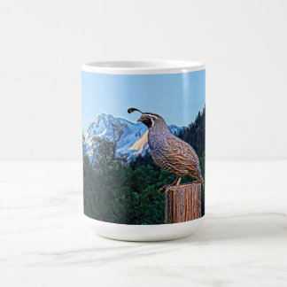 QUAIL AND SHASTA #4 COFFEE MUG