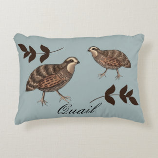 Quail and Sprig ACCENT PILLOW