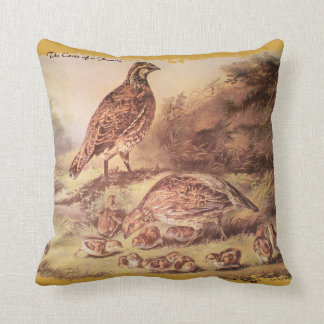Quail Family Pillow