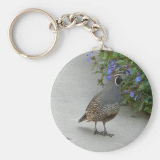 quail keychain